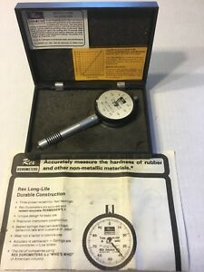 Rex Gauge Co Model 1600 Type A Standard Dial Precision Durometer Hardness Tester