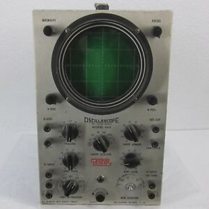 Vintage Working Eico Dc Wide Band Model 460 Oscilloscope Man Cave Missing Knob