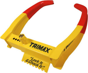 Trimax Boat Utility Trailer Wheel Lock Tcl75 Heavy Duty Boot Security Clamp