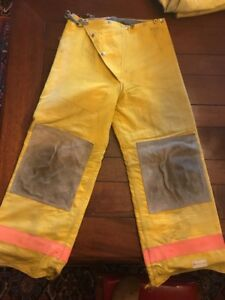 Body Guard Firefighter Turnout Pants Bunker Gear W Liner Small