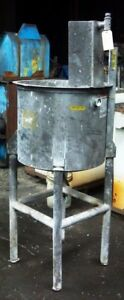 Stainless Steel Open Top Tank On Legs 55 Gals Item 8465