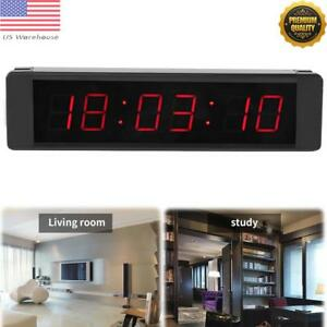 Programmable Remote Wall Clock Precise Timer Stopwatch For Fitness Training Usa