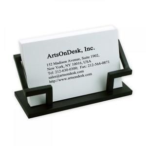 Artsondesk Modern Art Business Card Holder Bk301 Steel Black Patented Desk Acc