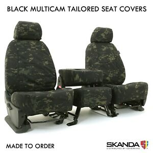 Coverking Black Multicam Camo Custom Tailored Seat Covers For Toyota Tacoma