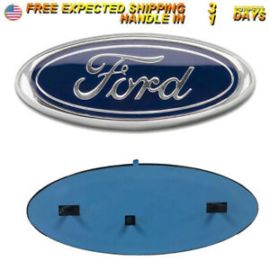 9 Blue Front Grille Oval Emblem Decal Badge Nameplate For Ford 2004 2014 F150