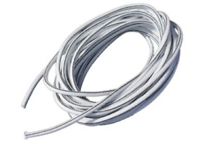 1 4 X 100 White Shock Bungee Rubber Rope Cord Woven Jacketed