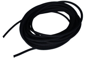 1 8 X 250 Black Shock Bungee Rubber Rope Cord Woven Jacketed