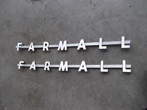 Farmall 300 350 400 450 Tractor Ih Chrome Hood Side F a r m a l l Panel Emblems