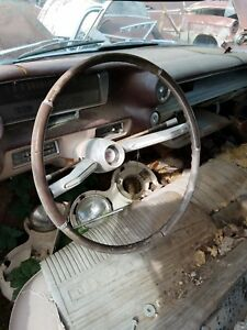1960 Cadillac Deville 4dr Hardtop Steering Wheel Horn Ring