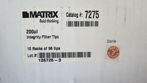 10 Racksthermo Matrix Filter Pipet Tips 200 l Pipette 7275