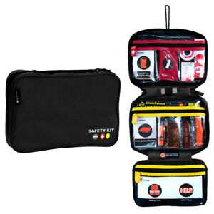 Car Roadside Emergency Kit Pro 56 Items Assistance Roadside Safety Kit Black