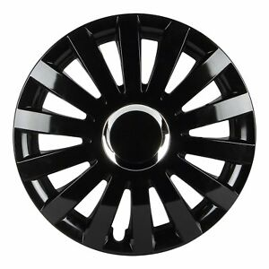 Wheel Cover Black 15 Inch Wheel Covers For Ford Honda Vehicle Abs Plastic