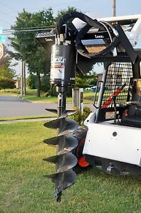 Bobcat Skid Steer Attachment Lowe Bp210 Round Auger Drive With 15 Bit ship 199