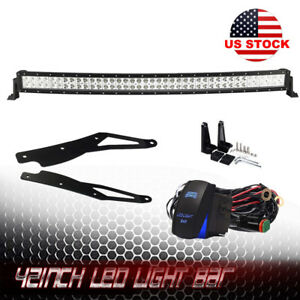 42inch 400w Curved Led Light Bar Flood Spot Combo Off Road Truck 4wd For Jeep
