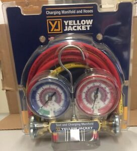 Yellow Jacket Series 41 Manifold 2v W 3 1 8 Gauges R32 r410a 42024