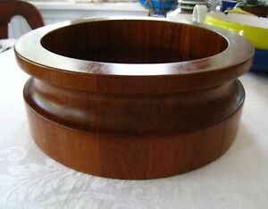 Mid Century Dansk Wood Salad Bowl Authentic Vintage Made In Denmark