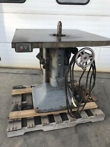 Used J A Fay Egan Co Wood Shaper 36 x36 3hp 220v 3ph Cast Base 1 Arbor