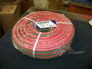 Radnor Welding Hose 1 4 Bb Fittings Grade R Twin Hose 100 Foot 64003327 New