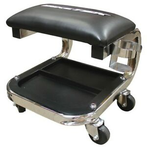 Biketek Heavy Duty Jumbo Creeper Seat With Storage Tray 300lbs Capacity