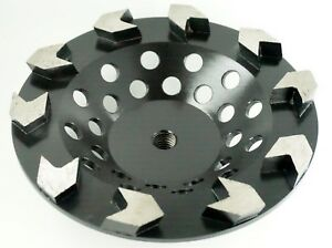 7in Diamond Cup Wheel Arrow Segmented For Fast Grinding Coarse 5 8 11t