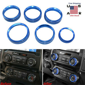 6 Blue Decor Ring Cover Trim For Ford F150 2015 18 Air Conditioner