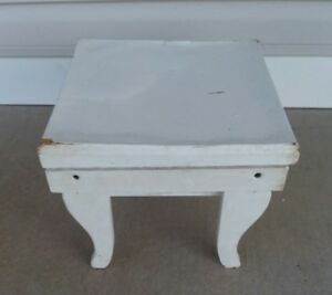 Rustic Primitive Wooden Country Farm Foot Stool Milking Stool
