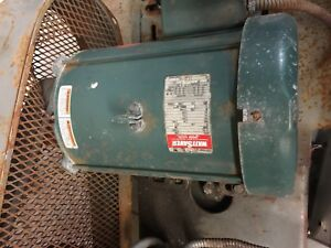 Leeson 140450 00 Electric Motor 7 1 2 Hp 208 230 460 Volts 1765 Rpm Frame 213t