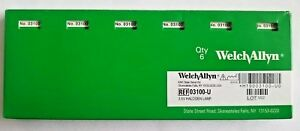 New Welch Allyn Genuine 03100 u Replacement Bulbs For 25020 Otoscope Pack Of 6