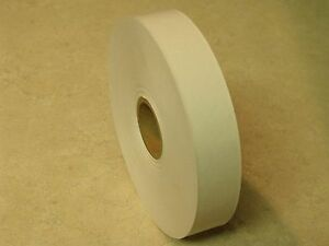 8 Rolls 1 X 500 Feet Each Water Activated White Kraft Paper Tape
