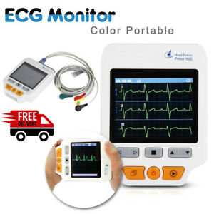 Handheld Heal Force 180d Color Ecg Ekg Heart Rate Monitor Holter 50 Electrodes