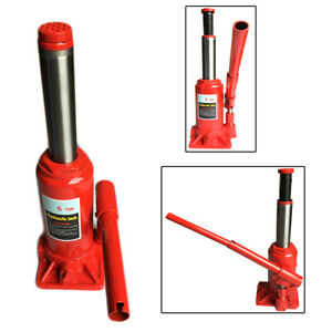 Off Road Trips Hydraulic Bottle Jack Portable Red Steel 6 Ton Durable