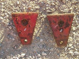 Farmall Ih B Bn Tractor Cultivator Mounting Brackets Bracket To Housing Belly