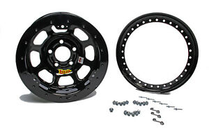 Aero Race Wheels 53 series 15x8 4in Bs 5x5 Beadlock Steel Black