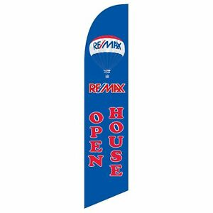 Neoplex Remax Open House Blue red Swooper Flag Dlx