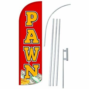 Neoplex Pawn Extra Wide Windless Swooper Flag Bundle