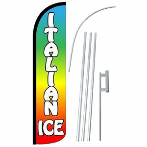 Neoplex Italian Ice Rainbow Swooper Feather Banner Flag Bundle Kit