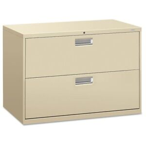 Hon 600 Series Two drawer Lateral File 42w X 19 1 4d Putty Hon692ll