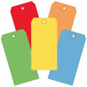 Box Partners Shipping Tag 13 Pt 4 75x2 3 8 assorted Color 1k cs Bxp G20001