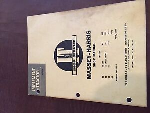 I t Massey Harris Shop Tractor Service Manual 20 102 22 44 81 101 82 30 55