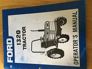 New Holland Ford Operator Tractor Manual 1320 Operator s