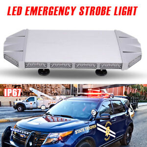 27 56 Led Warn Strobe Light Bar Flash Emergency Beacon Tow Plow For Jeep Ford