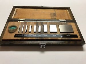 Mitutoyo 9pc Gauge Block Set 516 930 Grade A 0625 To 2 With Optical Flat Ic