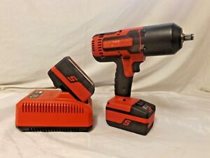Snap On Ct8850 Cordless 1 2 Impact Wrench Bundle 2 Batteries Charger Used