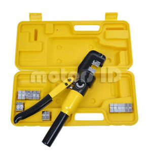 Yqk 70 Hydraulic Pliers Battery Cable Lug Wire Crimper Crimping Tool 9 Dies 10t