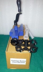New Hand Operated With 4 Tube Blood Centrifuge Machine Lab Equipment