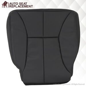 1998 2002 Dodge Ram Driver Side Bottom Synthetic Leather Seat Cover Dark Gray