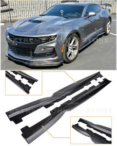For 16 up Camaro Rs Ss T6 Style Abs Plastic Side Skirts Rocker Panel Extension