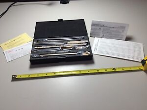 Mitutoyo Tubular Inside Micrometer Set No 139 201 1 1 2 12 Inches New