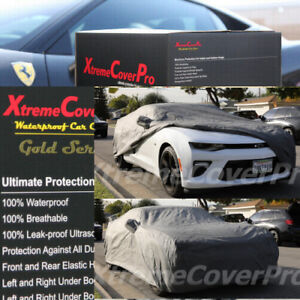 Custom Fit 2010 2011 2012 2013 2014 2015 Chevy Camaro Waterproof Car Cover Gray