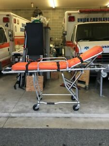 Used Ferno 93 es Squadmate Stretcher Cot Gurney With Pad And 3 Straps